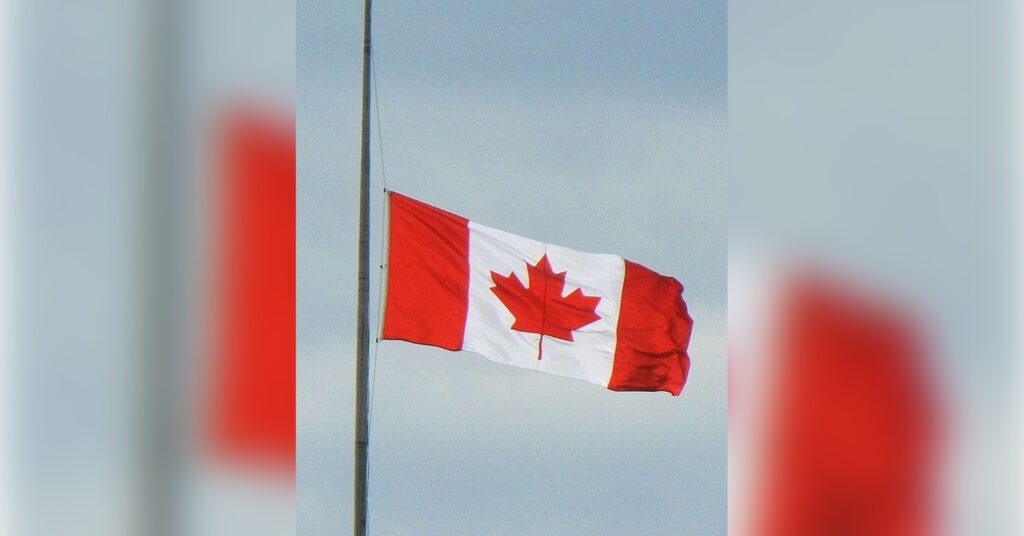 Flags lowered to honour the passing of The Duke of Edinburgh, Prince Phillip.